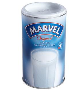 英国Marvel香浓原味脱脂奶粉学生孕妇成人340克 英国直邮12罐包邮