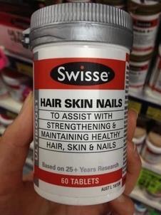 澳洲Swisse Hair Nails Skin胶原蛋白片 60粒皮肤头发保养