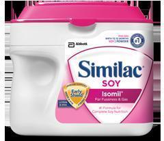 美国 Similac 雅培含铁一段金盾/1段大豆奶粉 657克