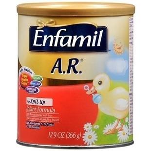 免运费!包美国直邮美赞臣Enfamil A.R. 防吐奶奶粉1段 366g