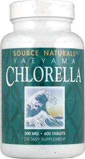 Source Naturals八重山小球藻200mg 600粒X2 2瓶起