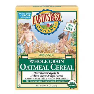 美国直邮earth's best世界最好2段米粉有机燕麦宝宝米糊 婴儿辅食