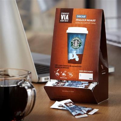 直邮正品美国starbucks VIA星巴克速溶纯咖啡低咖啡因咖啡 3G*50