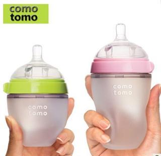 Comotomo 可么多么奶瓶全硅胶婴儿防胀气奶瓶150ml