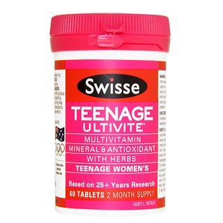 澳洲swisse Teenage Ultivite青春期少女复合维生素 60粒