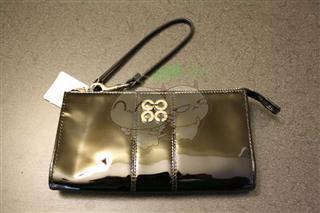 Coach Factory 46726 黑色漆皮钱包