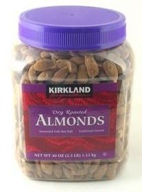美国 Kirkland Almonds 美国原产盐焗大杏仁 1.13kg
