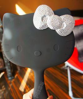 美国直邮Sephora丝芙兰Hello Kitty Noir闪钻蝴蝶结化妆镜包邮