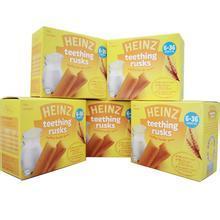 英国亨氏Heinz 小熊迷你饼干 婴儿磨牙饼干 迷你面包原味饼干 4m+ 120g 英国直邮