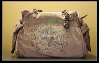 美国正品现货 Juicy Couture浅褐色Crown单肩手包YHRU3052