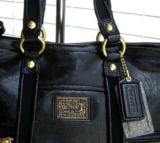 coach/寇驰 双c女包帆布包单肩包手提包*f20047黑色