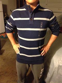 Tommy男士条纹线衣