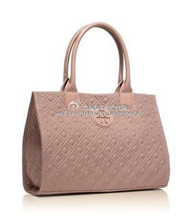 Tory Burch小香风 pvc购物袋通勤包 黑色/裸粉色