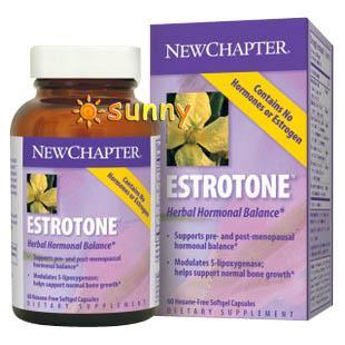 免运费!美国直邮New Chapter Estrotone更年期天然草本无荷尔蒙120粒