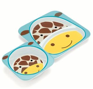 skip hop 动物园系列儿童餐盘套装