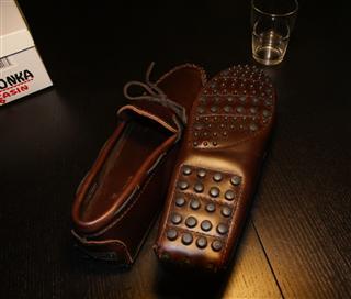 美国代购 正品迷你唐卡Minnetonka Original Cowhide男鞋直邮
