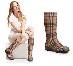 巴宝莉Burberry经典格子雨鞋雨靴
