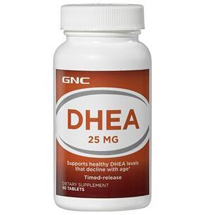 美国 GNC DHEA脱氢表雄酮 青春素 25mg*90  卵巢保养