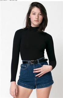 American Apparel复古高腰牛仔短裤