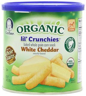 美国直邮 GERBER嘉宝泡芙有机切达奶酪泡芙条富含铁 钠 锌 42g