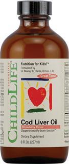 免运费!包美国直邮ChildLife高纯鳕鱼肝油(草莓味) 237ml