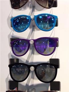 Ray-Ban 镜面毛绒框太阳眼镜