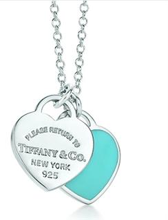 Tiffany蒂凡尼925银项链 豆蔻款 双心款