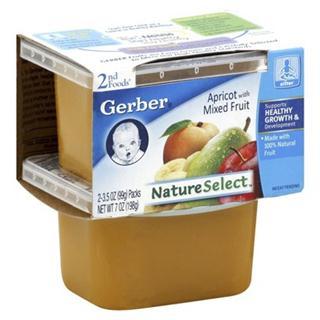 【美国直邮】Gerber嘉宝2段水果泥198克  多种口味