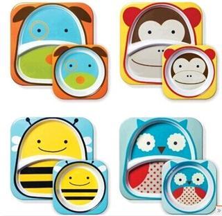 hop动物zoo婴幼儿童餐具组合宝宝餐盘