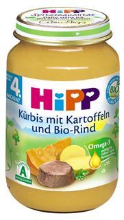 德国原装Hipp 喜宝 辅食 有机南瓜土豆牛肉泥 4月+ 190g  肉菜泥