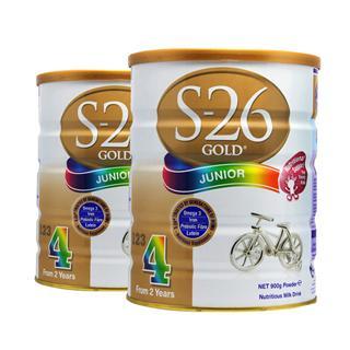 澳洲直邮空运 新西兰惠氏金装较大婴儿牛奶粉4段S26 900克*2罐装