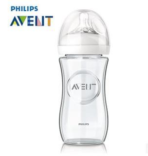 美国直邮 新安怡玻璃奶瓶新生婴儿宽口径防胀气 240ml/120ml
