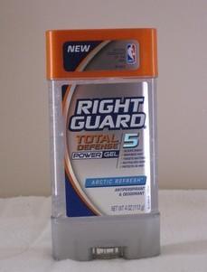 NBA运动员专用Right Guard最新TD5男士止汗除臭膏香体膏