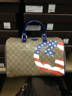 Gucci 波士顿 PVC款 棕色 货号195451 防尘袋和礼品小票和吊牌齐