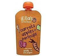 英国Ella's Kitchen胡萝卜苹果金菜萝卜泥 4个月+100g 英国直邮
