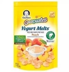 美国直邮 Gerber嘉宝 酸奶味溶豆 28g婴幼儿宝宝辅食零食 六种口味