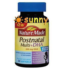 免运费包美国直邮Nature Made产后妈妈多种维生素+DHA液体软胶囊