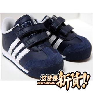 美国正品adidas阿迪达斯三叶草男宝海军蓝走步运动鞋