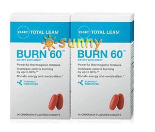 免运费包美国直邮GNC健安喜科学燃脂新配方Burn 60 120粒安全减肥