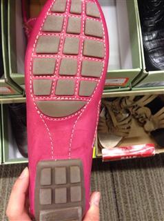 clarks女平底鞋  玫红  皮