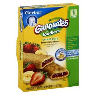 Gerber嘉宝水果夹心饼干/谷物派156克  2种口味