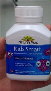 澳洲Natures Way Kids Smart 佳思敏鱼油脑部发育保护视力蓝莓味