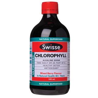 澳洲Swisse 叶绿素补充液 排毒养颜平衡体质 薄荷/梅子 500ml