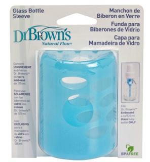 美国直邮 Dr.Brown's 布朗博士4盎司硅胶奶瓶套 不含双酚A 蓝粉