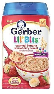 美国直邮 GERBER 嘉宝 3阶段 香蕉草莓燕麦米粉米糊 227G 含铁锌维