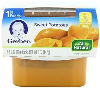 美国直邮 嘉宝Gerber果泥1段 原装进口婴儿食品宝宝辅食 番薯泥