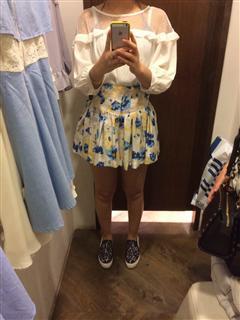 香港实拍顺风直邮 港牌 14春夏 蕾丝拼纱雪纺上衣