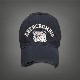 Abercrombie&Fitch AF 狗头 刺绣 经典棒球帽