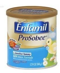 免运费!包美国直邮! Enfamil 美赞臣1段 ProSobee 大豆奶粉366g