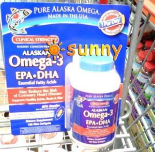 免运费!包美国直邮 欧米茄Alaskan Omega-3深海鱼油180粒